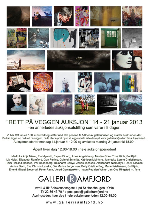 Auction at Galleri Ramfjord in January