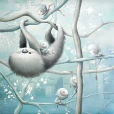 """""""Sloth in the city"""" 100x100cm"""