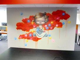 Veggmaleri til PwC, Bergen